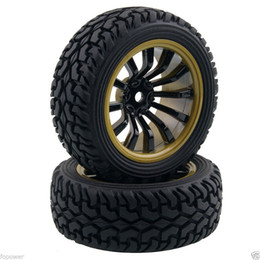 Wholesale Rc Rally - RC HSP 715B-8019 Rally Tires & Wheel Rims Offset:6mm For 1:10 On-Road Rally Car