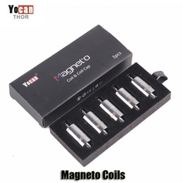 Wholesale Head Replacement Tools - 100% Original Yocan Magneto Replacement Coils Head Ceramic Wax Coil With Magnetic Coil Cap And Dab Tool
