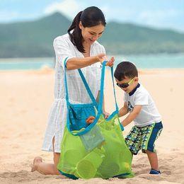 Wholesale Seashell Bags - Children Mesh Shell Beach seashell Bag Kids Beach Toys Receive Big Bag Mesh Sandboxes Away IC523