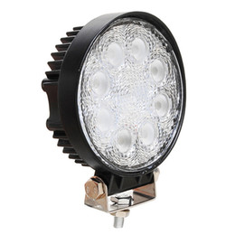 Wholesale Work Led 24w - New Round 24W Offroad LED Work Light Spot 10-30V Auto LED Work Light Lamp 4X4 Truck SUV LED Fog Working Light