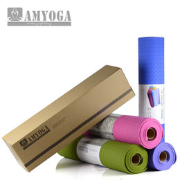 Wholesale pink yoga mat bag - Wholesale-eco-friendly anti slip TPE Yoga Mat,wtih sling and carry bag free shipping