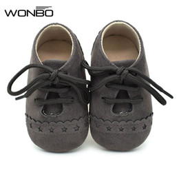 Wholesale Baby Step Shoes - Wholesale- 8 Color Spring Autumn Baby Step Shoes New Matte Leather Baby Shoes 0-1 year old Soft Bottom Kids Prewalker Shoes 2017