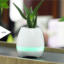 Wholesale Real Audio Music - Bluetooth Smart Music Flower pots intelligent real plant touch play flowerpot colorful light long time play bass speaker Night light