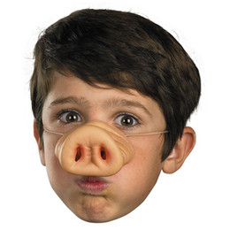 Wholesale Pig Costume Adult - Wholesale-Fake Pig Nose Fancy Dress up Costume Props Fun Party Favor Siliconematerial Party mask Supplies Decoration