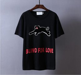 Wholesale designer BLIND FOR LOVE t shirt for men women streetwear tee shirt tshirt t shirt harajuku hip hop couple Panther t shirts