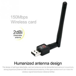 Wholesale External Lan Card - Wholesale USB 2.0 150mbps 2db WiFi Wireless Network Card 802.11 b g n LAN Adapter with rotatable Antenna and retail package