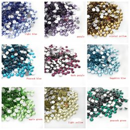 Wholesale black angels music - Wholesale Rhinestones 1440pcs Bag 18 Colors Ss3-Ss20 Flat Back Crystal Stones For DIY Jewelry Phone Beauty Drill Nail Drill