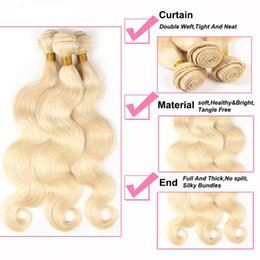 Wholesale Trade Brazilian Hair - 6A Foreign trade wholesale manufacturer Brazilian virgin hair blonde beauty hair body wave quality and cheap 50 grams