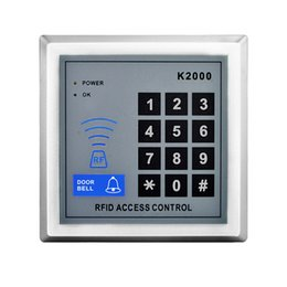 Wholesale Id Card Models - Wholesale- Hot Sale Rfid 125KHz ID Card Reader Access Control Keypad System Digital Password Door Lock With Doorbell Function-K2000 Model