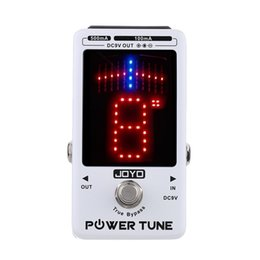 Wholesale Electric Bass Tuners - JOYO New Arrival!!! Power Tune True Bypass Electric Guitar Bass Tuner & 8 Port Multi-power Power Supply Supplier Effect