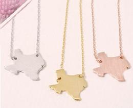 Bijoux rose délicat en Ligne-2017 nouvelle carte de mode collier de bijoux en gros. Bijoux délicats USA Texas carte collier. Cadeaux pour des amis