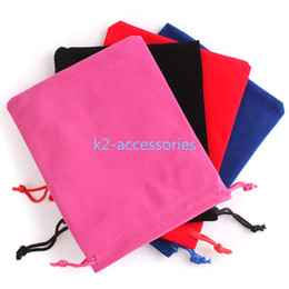 Wholesale Jewelry Packaging Bags For Bracelets - 3 Sizes velvet jewelry pouch gift present package mix color fit for necklace bracelet earring Christmas Bags