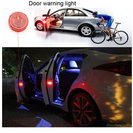 Wholesale Car Door Anti Collision - Universal Wireless No damage Vehicle Truck LED Safety Light car Door warning Light,LED Strobe Flicker for Anti rear-end Collision-2pc set
