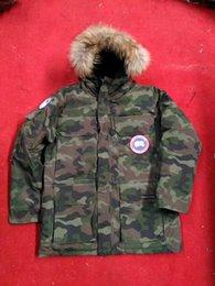 Wholesale Long Winter Coats Sale - 2017 canada New Arrival sale men's Down parka Chateau Black Navy Gray Jacket Winter long Coat Parka Fur Sale With Outlet MC280