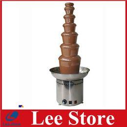 Wholesale Electric Chocolate Fondue Fountain - Heating EU Plug Free Shipping Chocolate Fountain Choco Tree Chocolate Fondue Machine 6 tiers by dhl shipping