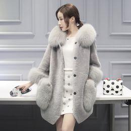 Wholesale Real Fox Tails - beautiful coats women fur coat natural long vest real fox gilet winter high quality women coat mink tail fur coat