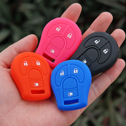 Wholesale Cube Cap - Silicone key case cover cap shell set for Nissan March Tiida Altima Armada Cube Juke Maxima Pathfinder Rogue Sentra Versa micra