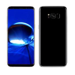 "Wholesale Dual Sim Bluetooth - 6.2"" Fingerprint Iris S8 plus 1G 16G Quad core MTK6580 8MP 3G WCDMA unlocked phone Full Screen no black Sticks"