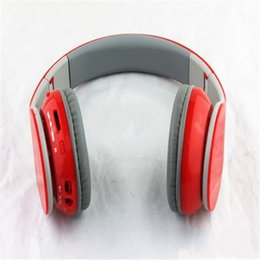 Wholesale Foldable Headphones - New bluetooth headphone wireless Foldable Bluetooth Headset with Factory Sealed Retail Box Black White Red AAA Quality EMS DHL Free BT-528