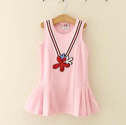 Wholesale Red Vest For Kids - Kids Girls Flower Dresses Baby Girl Sequined Vest Dress Infant Girls Tutu Dress for Party 2017 Princess Vestidos Children Boutique Clothing