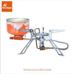 Wholesale Powered Ultralight - Fire Maple Split Gas Stove Ultralight Stainless High-Power Portable Outdoor Cooker Gas Burner Camping Equipment 2990W 146g FMS-118