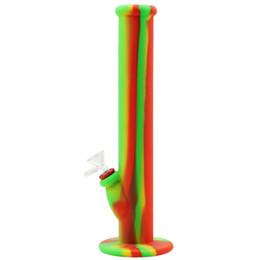 Wholesale Multiple Portable - 14'' Multiple colors newest silicone hookah shisha Portable Unbreakable Bongs Shisha Hookah Silicone Smoking Water Pipes Bongs