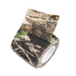 2019 bande élastique Élastique Stealth Tape Chasse Camouflage Bande Paintball Stretch Bandage Camo Bande Livraison Gratuite bande élastique pas cher