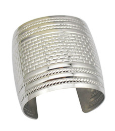 Wholesale East Relief - Fashion jewelry silver wide Vintage cuff bangle for women Refinement Relief Statement large Wrist opened cuff Bangle bracelets