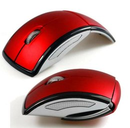 Wholesale Folding Laptop Tablet - Folding 2.4GHz USB Optical Wireless Mouse USB Receiver gaming mouse Sleep Energy-Saving Foldable Mice for Computer Tablet PC Laptop Desktop