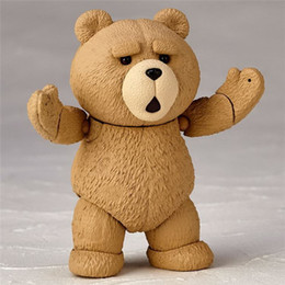 Wholesale Teddy Movie - LilyToyFirm Funko Pop Movie Teddy Bear Cute Movable 006# Doll Figurine PVC Figure Resin Collection Model Toy Gifts
