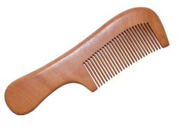 Wholesale Round Wooden Handle Brush - Wood comb with round handle wooden comb fine hair DH8-10