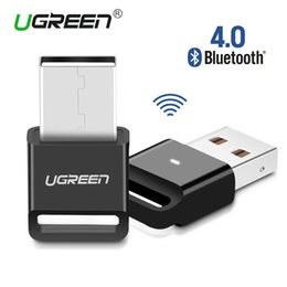 Wholesale Usb Bluetooth Music Receiver - Ugreen Wireless USB Bluetooth Adapter V4.0 Bluetooth Dongle Music Sound Receiver Adapter Bluetooth Transmitter for Computer PC
