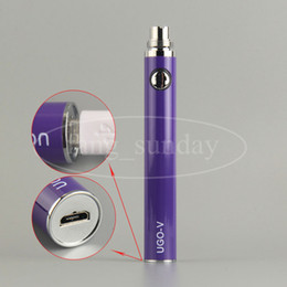 Wholesale Ego T Tanks - UGO V T 650 900 1100mah EVOD EGO 510 Thread Batteries Micro USB Passthrough Bottom Charge with Cable E Cigs Cigarette Atomizer Tank