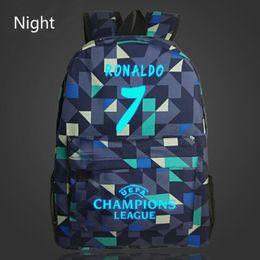 Wholesale Fashion Kids School Bag - 7# Bag Ronaldo Backpacks Fashion School Backpack For Teenagers Boy Girls Travel School Style Nylon Backpacks Kids Gift