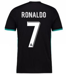 Wholesale Real Gold Men - 2018 new Real Madrid away black Soccer Jersey 17 18 Real Madrid CR7 Away black soccer shirt Ronaldo Bale Football uniforms Asensio sales