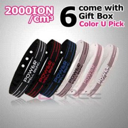 Wholesale Balance Power Bands - Power Ionics Basketball Silicone Band Wristband Bracelet Classic Style Sport Titanium 2000 ions Balance Healthy Body Color PT001