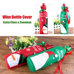 Wholesale Wine Ornaments Wholesale - Wholesale-High Quality 1Pc Christmas Table Decoration Wine Bottle Cover Bags Santa Claus Christmas Ornament Decorations #91783