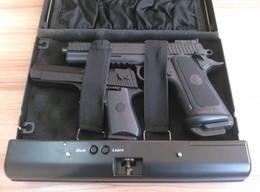 Оптовая продажа-OSPON 500C мобильный код металл сейф Keyless ящики для хранения бункеры черный пароль ювелирные изделия пистолет деньги пистолет офис макияж организация от