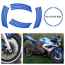 Wholesale Yamaha Cover Wholesale - Car&Motorcycles Styling Tire Rim Cover Tyre Rim Decals Tire Protector Hub Wheel Stickers Strip For BMW Honda Suzuki Yamaha