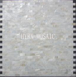 Wholesale Pearl Tile Backsplash - 11 square feet White square shell mosaic tile groutless mother of pearl kitchen backsplash shower luster bathroom tiles