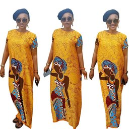 Wholesale Summer Party Dresses Design Casual - 2017 New Fashion Design African Women Bazin Riche Super Elastic Party Plus Size Diamond Pattern Loose Dashiki Dress For Lady