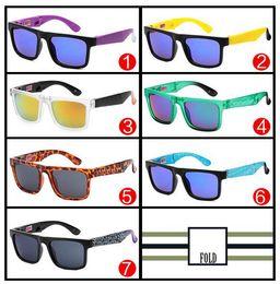 Cor do refletor on-line-Homem de verão nova moda Cor óculos de sol dobráveis Cor mercúrio refletores 7 cores mulher de plástico Esportes óculos de ciclismo frete grátis