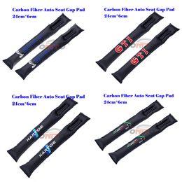 gestrickte autositzbezüge Rabatt 2 teile / los Carbon Fiber Autositz Lücken Stecker Spalteinsätze Schutzpolsterung für SHELBY GTI HARTGE LTALY fit alle auto
