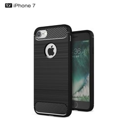 Wholesale E3 Case - Carbon Fiber Brushed Case For Iphone 7 6 6s Plus Samsung J5 J7 MOTO G3 E3 Shockproof Combo Texture Brushed Back Cover With OPPBAG