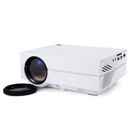 Wholesale Mini Movie Projectors - Wholesale-GM60 MINI Portable LED Projector Pocket 800*480 1000Lumens For Video Game TV Home Theater Movie Support HDMI VGA AV SD UN40 UC28