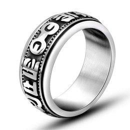Wholesale Color Fade Ring - New Retro Fashion Titanium Steel Jewelry Men 316L Stainless Steel Rings Silver Color No Fading SA343