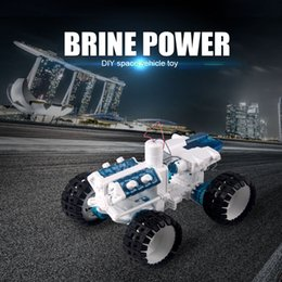 Wholesale Powered Model Cars - DIY Space Vehicle Car Kit Salt water Engine Fueled Toy Bine Power Robot Blocks Science Model Educational Toys Gift for children