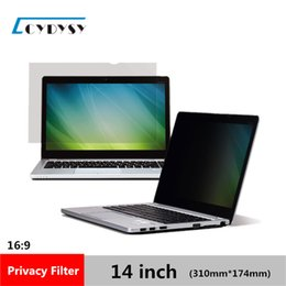 Wholesale Material Computer - 3M Quality 14 inch No glue PET material Laptop Privacy Screens Anti Privacy Filter for Laptop Computer Monitor 310*174mm