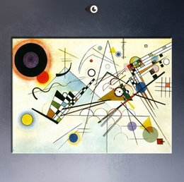 Wholesale Paintings Kandinsky - WASSILY KANDINSKY Composition no8 1923 Wall Painting picture leaf Home Decorative Art Picture Paint on Canvas Paints