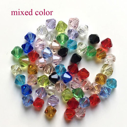 Wholesale Czech Christmas - Crystal AB Bicone Beads 1000PCS LOT 4mm Czech Loose Crystal Beads Faceted Glass Beads for DIY Jewelry Necklace Bra